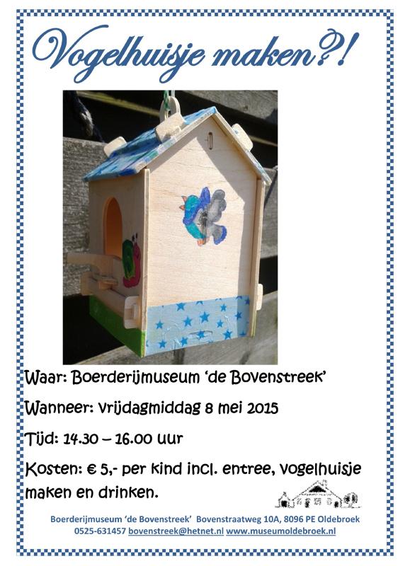 Vogelhuisje maken 8 mei 15